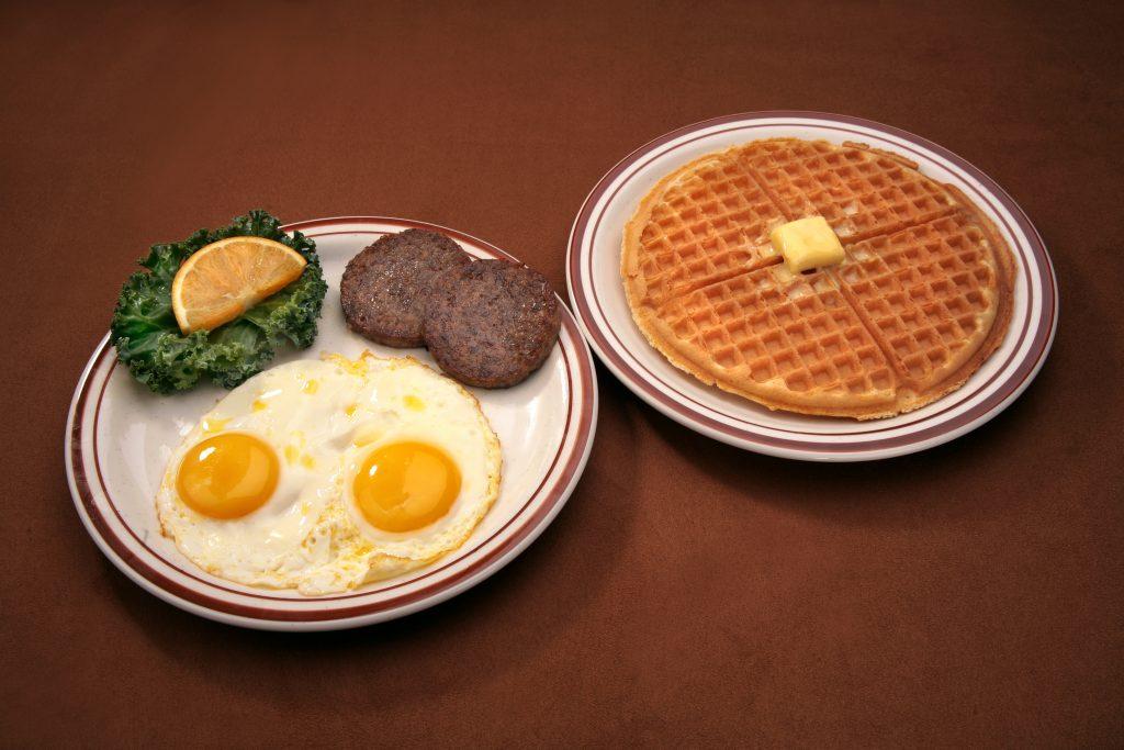 Eggs, Sausage Patty & Waffle